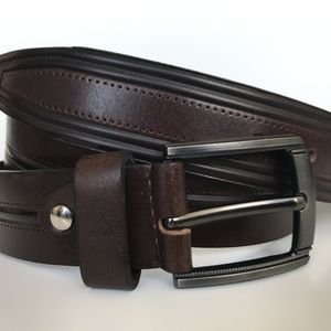 Other - Men's Belt, Chocolate brown, Full Grain Leather